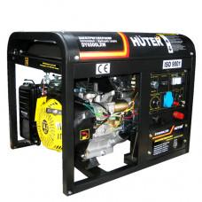 Генератор бензиновый Huter DY6500LXW + с функцией сварки, с колёсами.