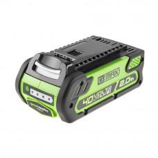Аккумулятор GreenWorks G40B2 29717 (2 А*ч; 40 В)